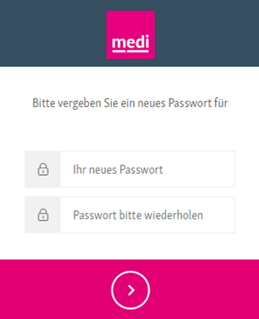 Neues Passwort wählen
