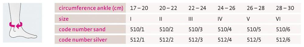 Size chart Achimed UK