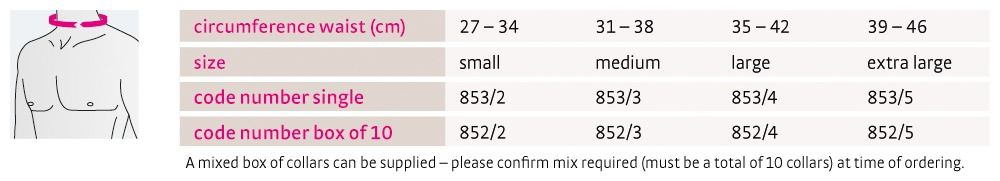 Size chart Hereford Collar UK
