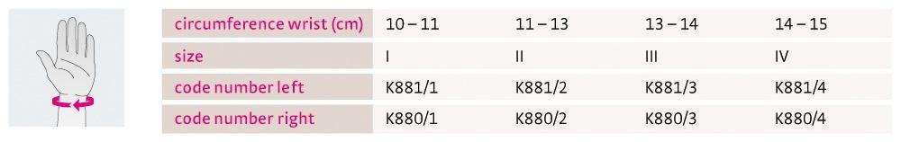 Size chart Manumed Kidz UK