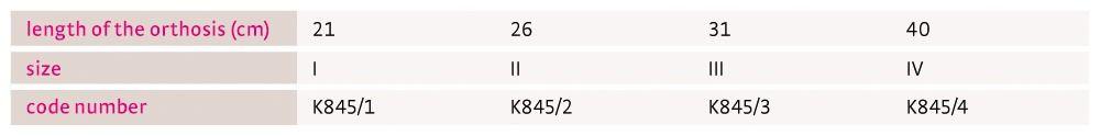 Size chart medi Classic Kidz UK