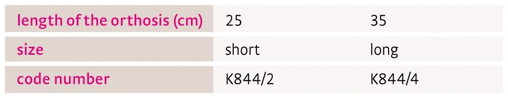 Size chart medi ROM Kidz UK