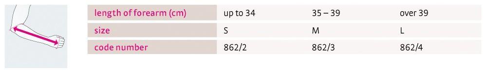 Size chart medi SAS 15 UK